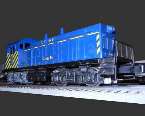 Larry's First Train, Lionel Santa Fe switcher
