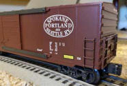 SP&S Brown Boxcar